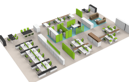 office space plan. office design and space planning plan